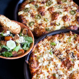 Delicious Hot Pizzas & Fresh Salad